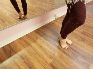 Abrollen der Füße beim Tamau - Foto: privat