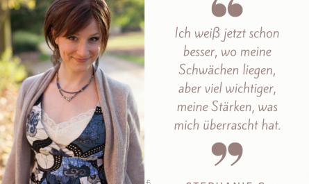 Stephanie G. - Kursteilnehmerin - über Stärken - Foto: H. Gritsch
