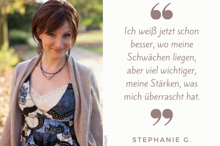 """Stephanie G.: """"Ich hatte immer viel Bammel, mich zu blamieren."""""""